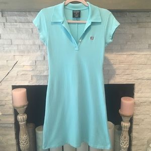 RALPH LAUREN AQUA POLO DRESS SIZE MEDIUM